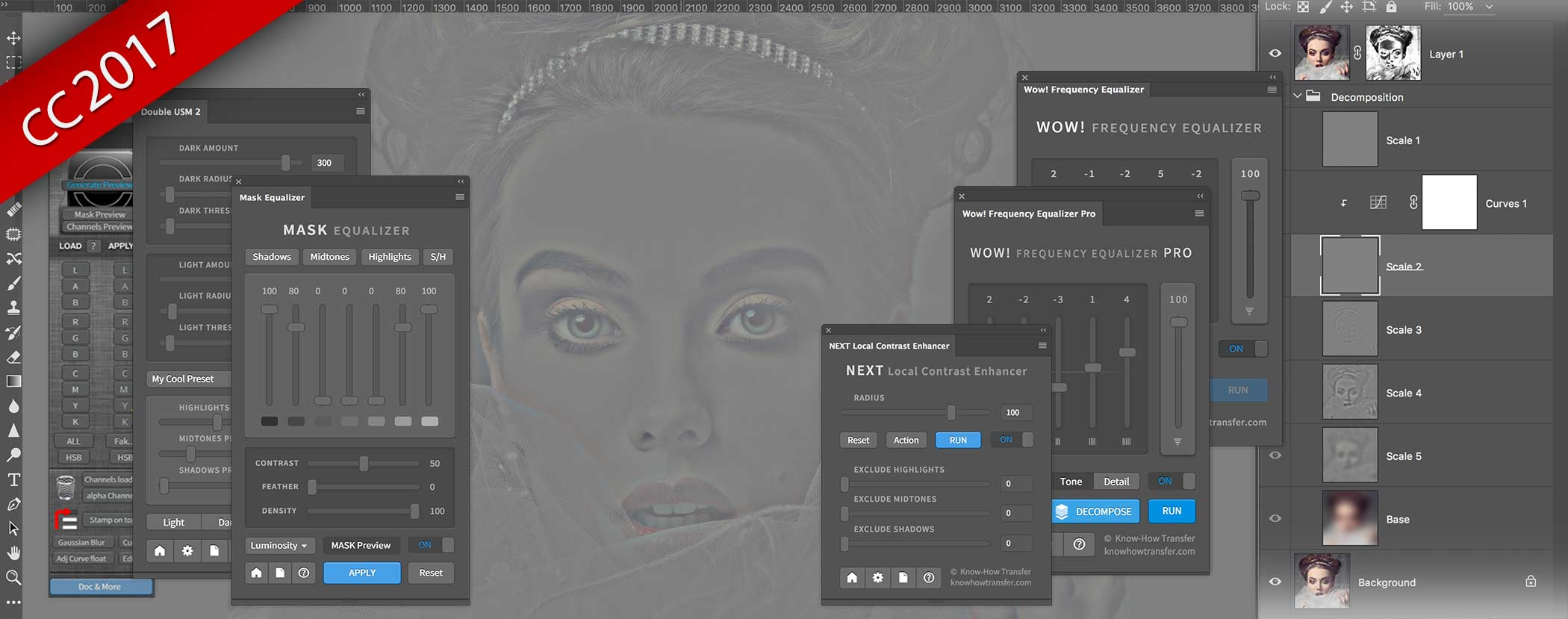 Know-How Transfer Plugins and Extensions Panels all CC 2017, OSX Sierra and WIN10 compatible including the last plugin NEXT Local Contrast Enhancer
