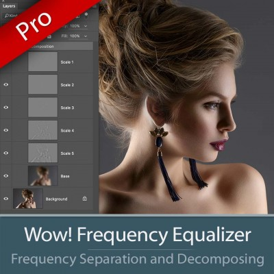 Wow! Frequency Equalizer Pro Edition - Product presentation and layers decompose figure