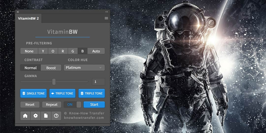 VitaminBW 2 Interface and Featured Image